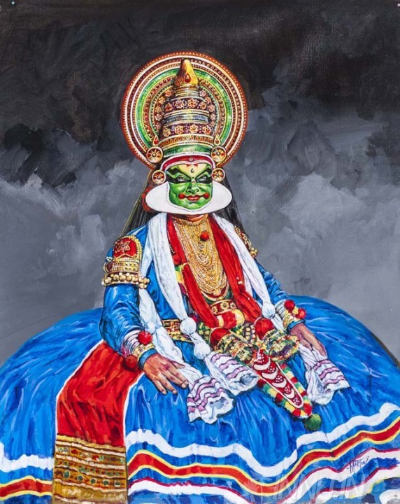 Buy Fine art painting Kathakali portrait by Artist Unknown Artist