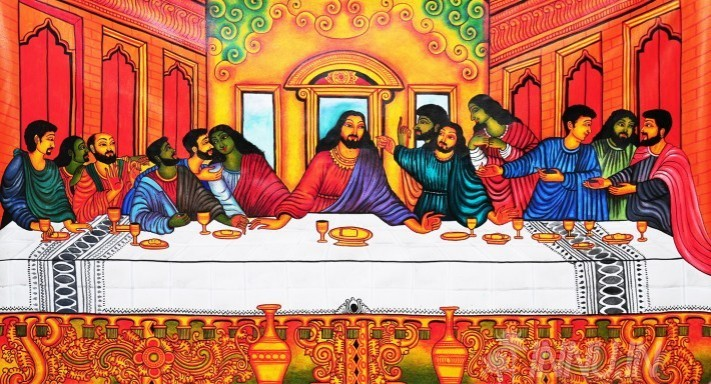 Buy Fine art painting Last supper mural art by Artist Unknown Artist