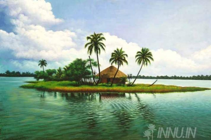 Buy Fine art painting Lake island by Artist Unknown Artist