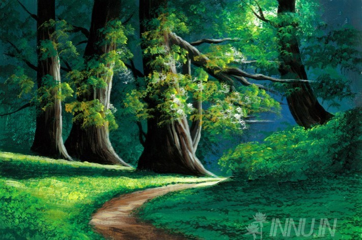 Buy Fine art painting Forest path by Artist Unknown Artist