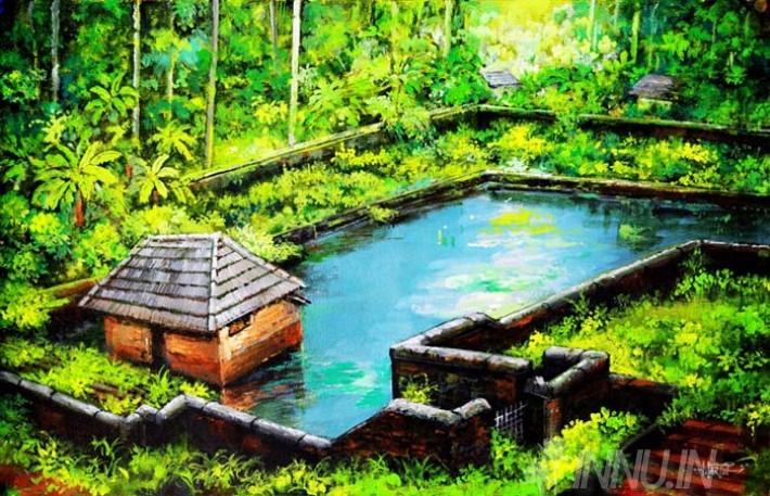 Buy Fine art painting Village Pond by Artist Martin