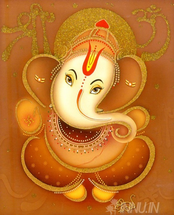 Buy Fine art painting Lord Ganapathi 2 by Artist Unknown Artist
