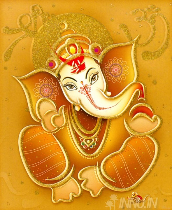 Buy Fine art painting Lord Ganapathi 3 by Artist Unknown Artist