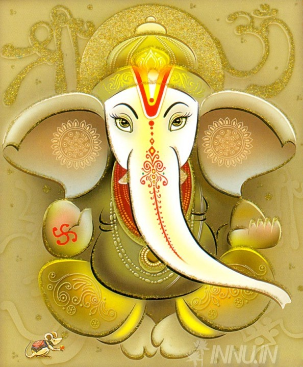 Buy Fine art painting Lord Ganapathi 4 by Artist Unknown Artist