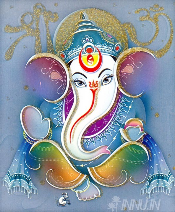Buy Fine art painting Lord Ganapathi 6 by Artist Unknown Artist