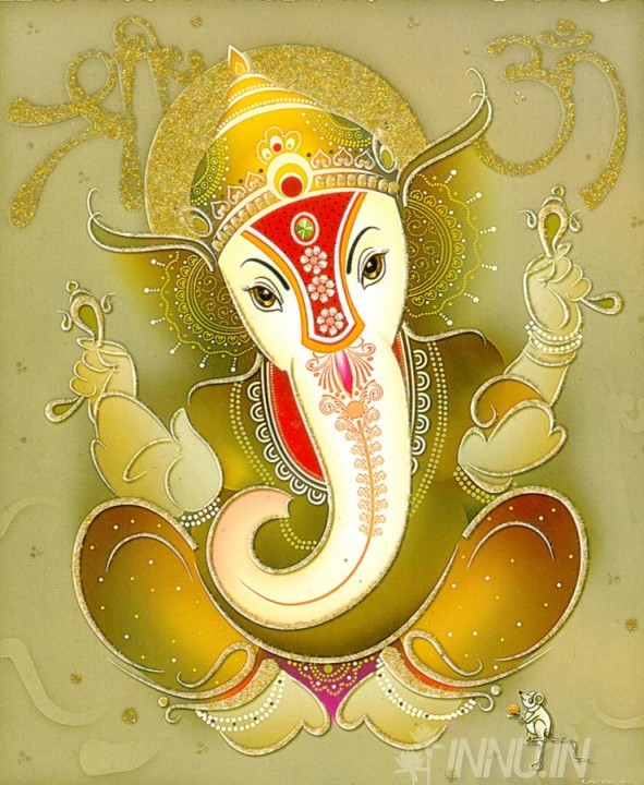 Buy Fine art painting Lord Ganapathi 8 by Artist Unknown Artist