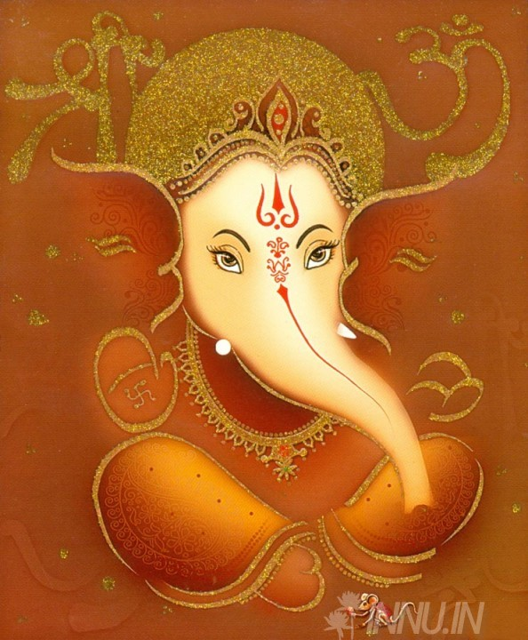 Buy Fine art painting Lord Ganapathi 10 by Artist Unknown Artist