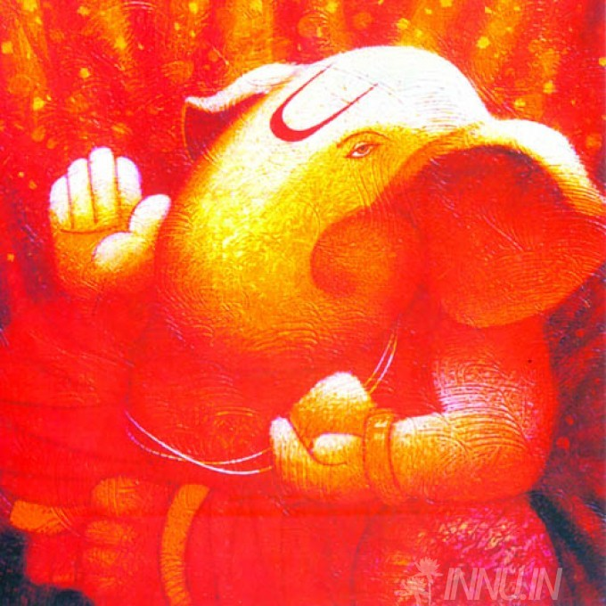 Buy Fine art painting Lord Ganapathi 11 by Artist Unknown Artist
