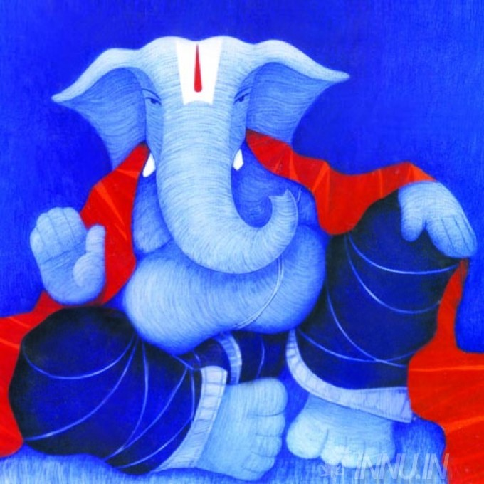 Buy Fine art painting Lord Ganapathi 12 by Artist Unknown Artist