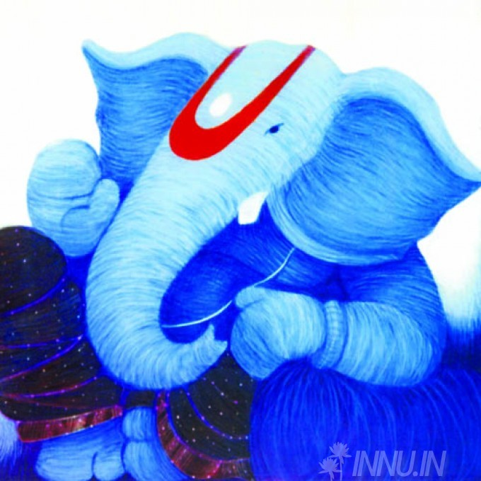 Buy Fine art painting Lord Ganapathi 13 by Artist Unknown Artist