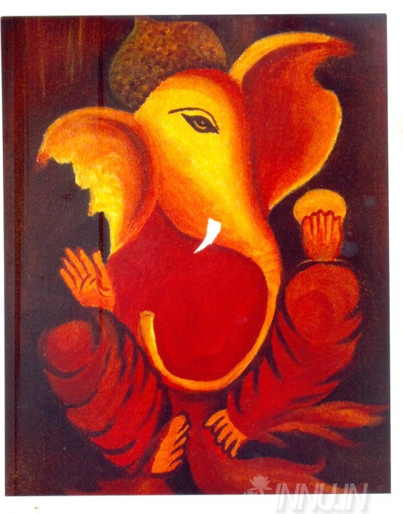 Buy Fine art painting Lord Ganapathi 15 by Artist Unknown Artist
