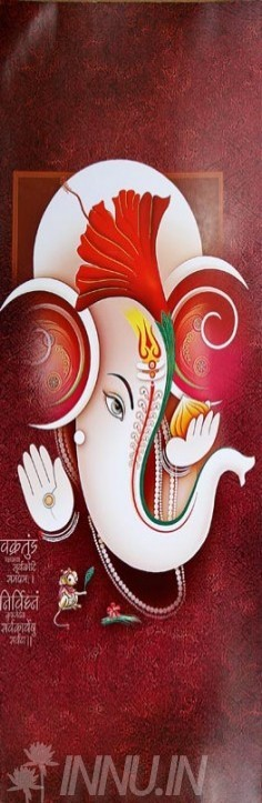 Buy Fine art painting Lord Ganapathi 16 by Artist Unknown Artist