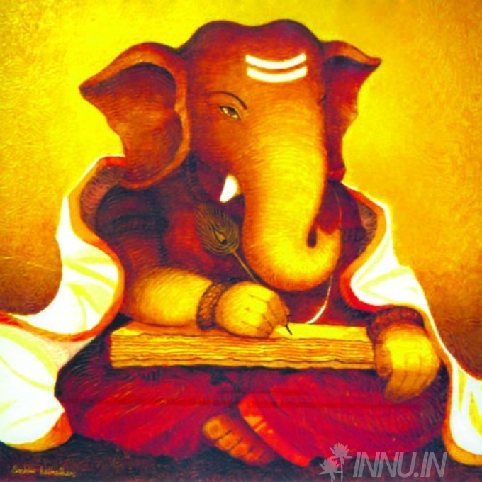 Buy Fine art painting Lord Ganapathi 17 by Artist Unknown Artist