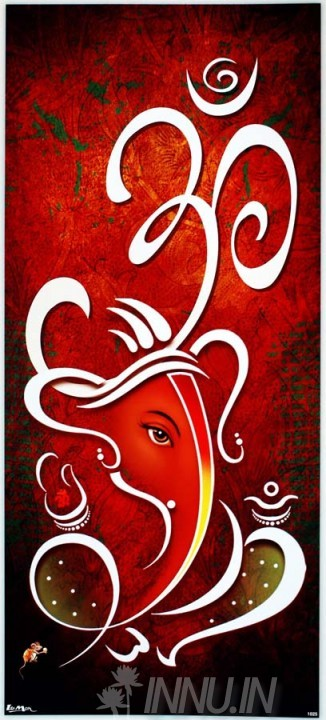 Buy Fine art painting Lord Ganapathi 18 by Artist Unknown Artist