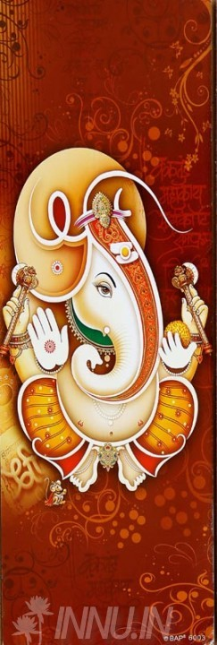 Buy Fine art painting Lord Ganapathi 20 by Artist Unknown Artist