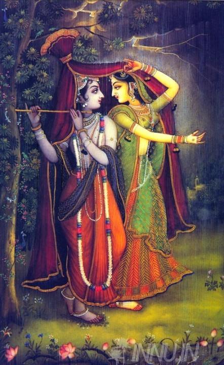 Buy Fine art painting Krishnan and Radha 3 by Artist Unknown Artist