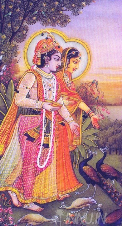 Buy Fine art painting Krishnan and Radha 6 by Artist Unknown Artist