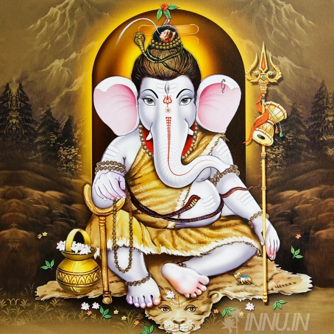 Buy Fine art painting Lord Ganapathi 27 by Artist Unknown Artist