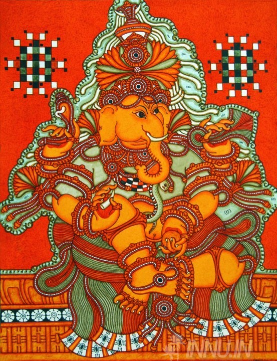Buy Fine art painting Ganapathi Mural 2 by Artist Unknown Artist