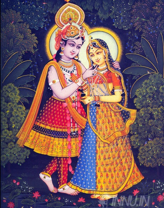 Buy Fine art painting Krishnan and Radha 14 by Artist Unknown Artist