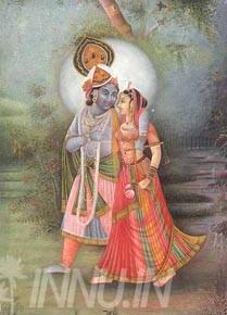 Buy Fine art painting Krishnan and Radha 15 by Artist Unknown Artist