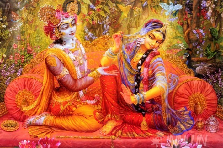 Buy Fine art painting Krishnan and Radha 17 by Artist Unknown Artist