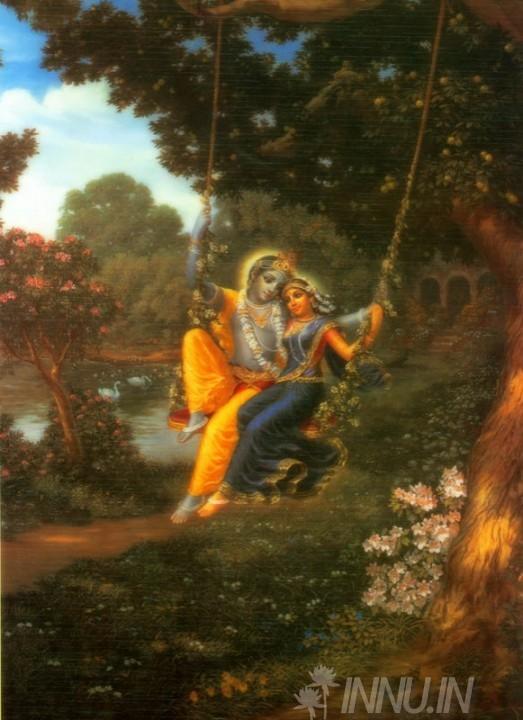 Buy Fine art painting Krishnan and Radha 19 by Artist Unknown Artist