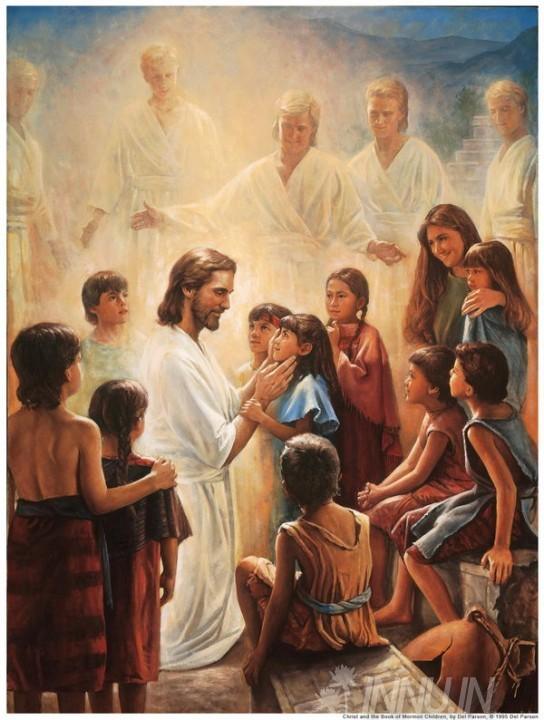 Buy Fine art painting Jesus christ with kids by Artist Unknown Artist