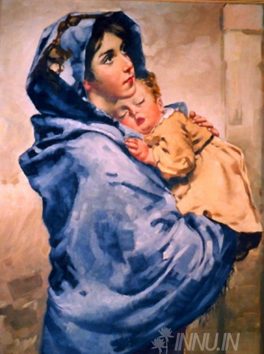 Buy Fine art painting Mother Mary with child Jesus 2  by Artist Unknown Artist