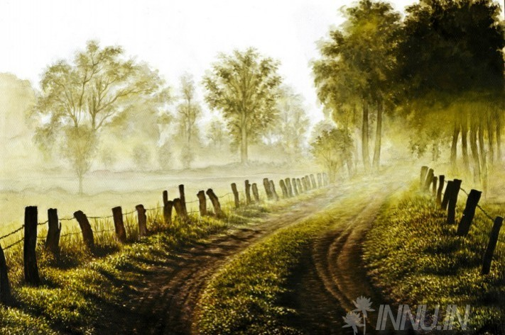 Buy Fine art painting Misty Morning by Artist Unknown Artist