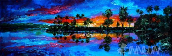 Buy Fine art painting Nature's Reflection by Artist Unknown Artist