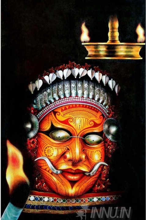 Buy fine art painting theyyam art form by artist unknown artist