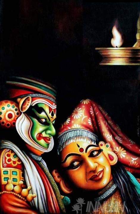 Buy Fine art painting The Kathakali Duo by Artist Unknown Artist