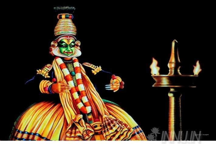 Buy Fine art painting Kathakali Mudra by Artist Unknown Artist
