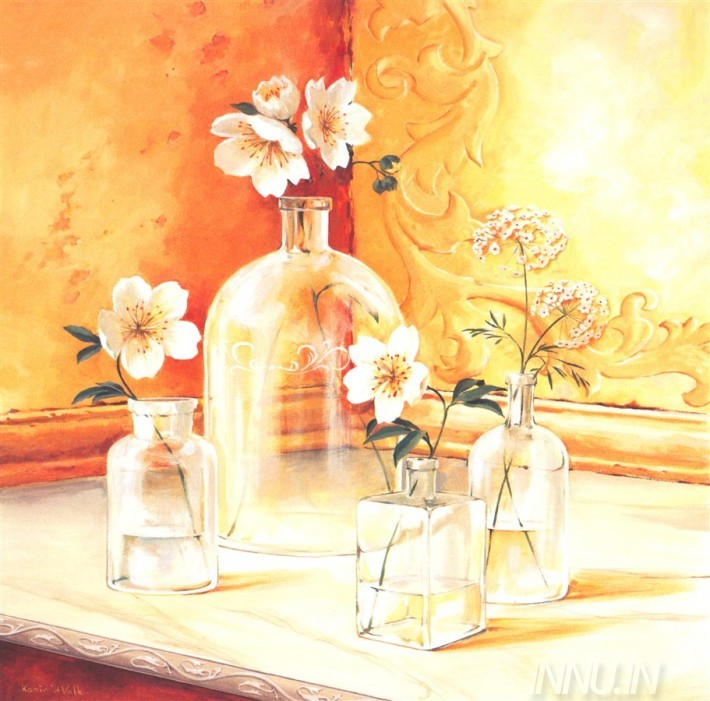 Buy Fine art painting Glass Vases by Artist Unknown Artist