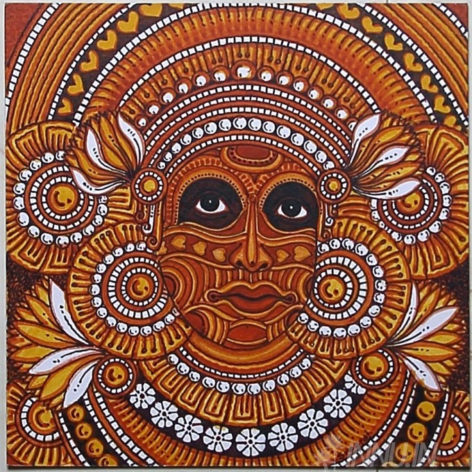 Buy Fine art painting Theyyam Mural by Artist Unknown Artist