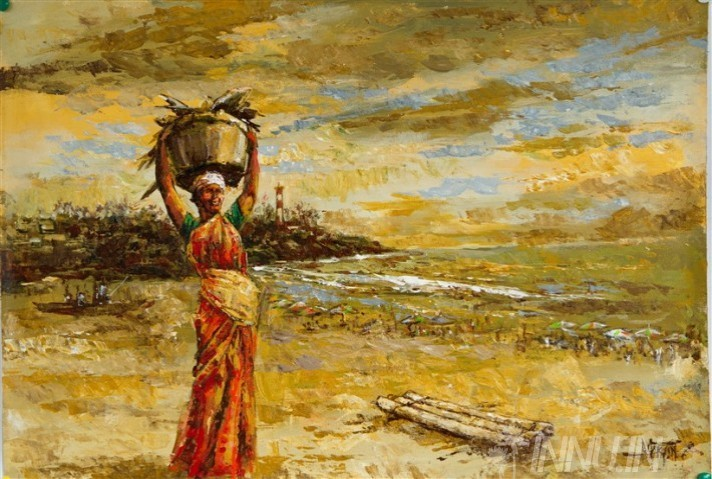 Buy Fine art painting Fisher Lady by Artist Martin
