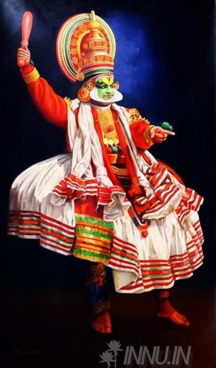 Buy Fine art painting Kathakali3 by Artist Mahendran
