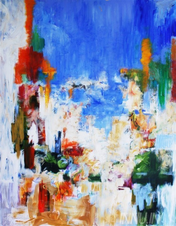 Buy Fine art painting Colourful Abstraction by Artist Unknown Artist