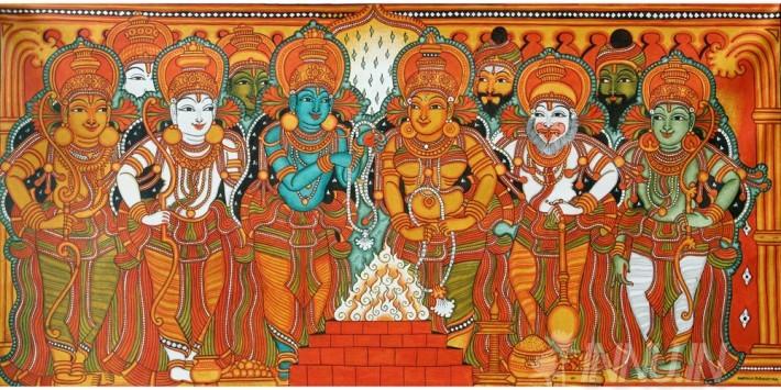 Buy Fine art painting Sita Swayamvaram Mural 3 by Artist Unknown Artist