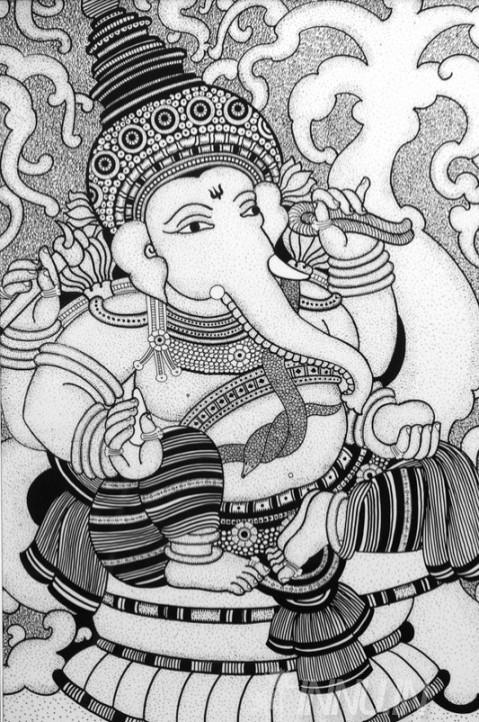 Buy Fine art painting Lord Vinayaka by Artist Unknown Artist