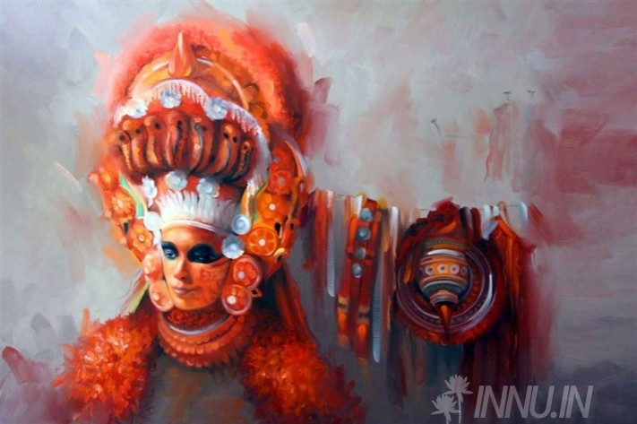 Buy Fine art painting Theyyam Painting  by Artist Unknown Artist