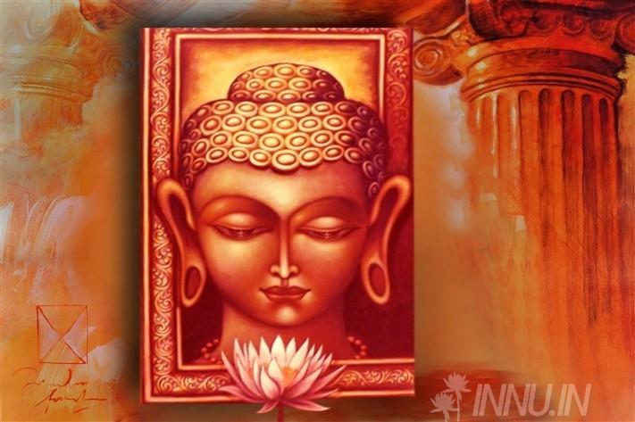 Buy Fine art painting Buddha 3 by Artist Unknown Artist