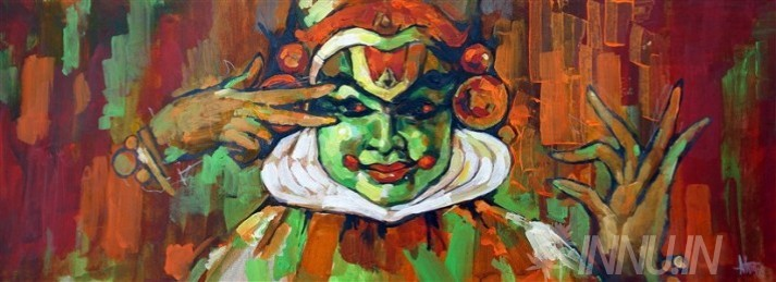 Buy Fine art painting Kathakali Mudra 1    by Artist Unknown Artist
