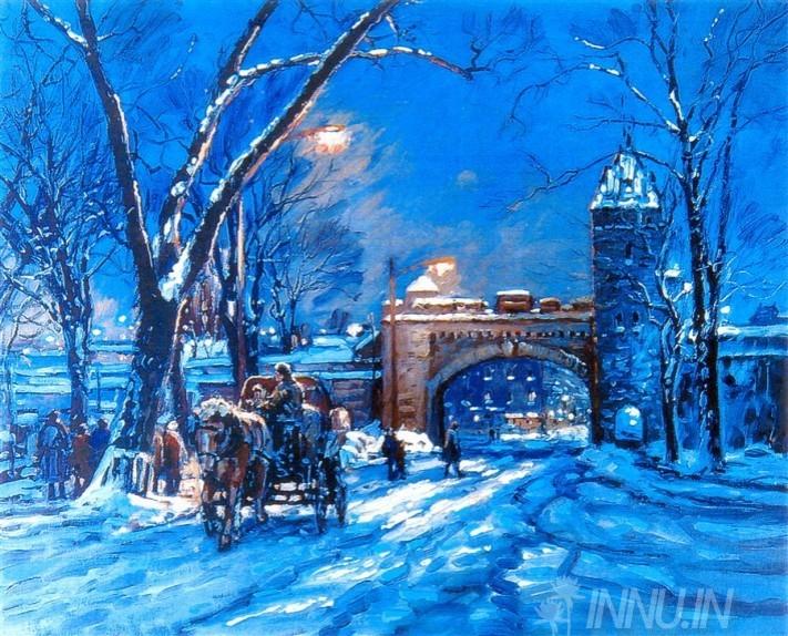 Buy Fine art painting Winter  by Artist Unknown Artist