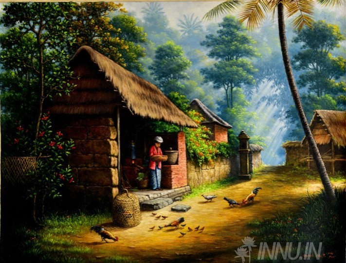 Buy Fine art painting Life of Villagers 2 by Artist Unknown Artist
