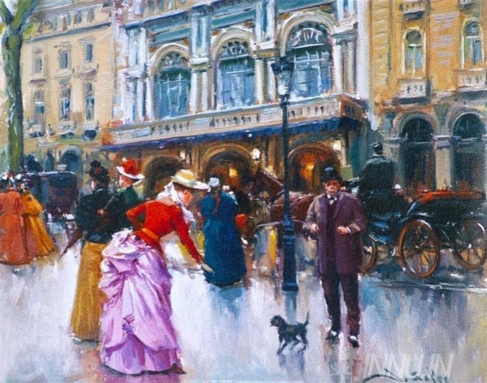 Buy Fine art painting A Street by Artist Unknown Artist