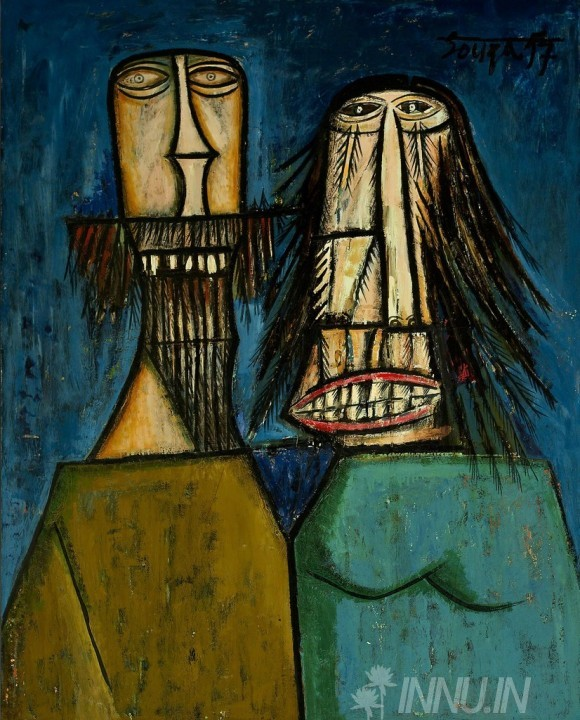 Buy Fine art painting Man and Woman Laughing by Artist Francis Newton Souza