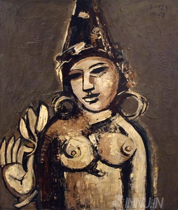 Buy Fine art painting Hindu Princess - 1949 by Artist Francis Newton Souza