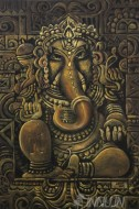 Fine art  - Divine Lord Ganesha by ArtistMopasang Valath